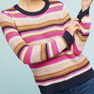 Anthropologie Moth Cate Striped Sweater MP